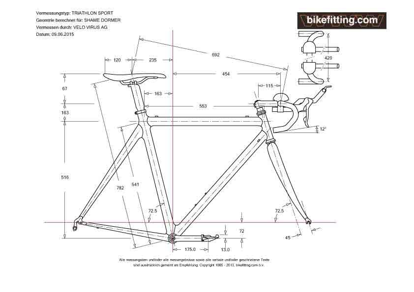 vermessung triathlon sport velo virus ag. Black Bedroom Furniture Sets. Home Design Ideas