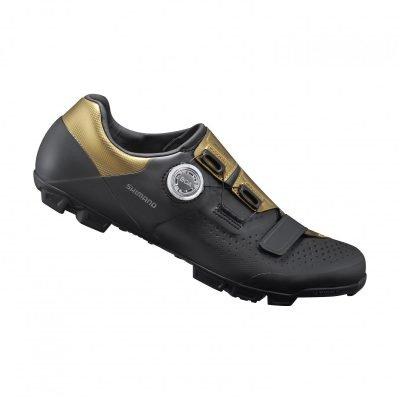 Schuhe Men MTB SH-XC5M Schuh SPD black gold