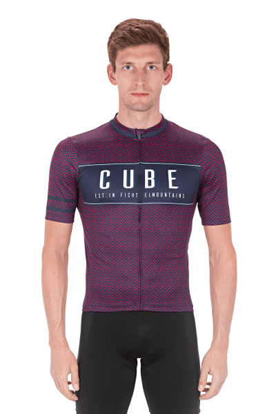 Cube Trikot Blackline Blue'n'Pink