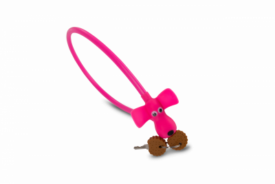 Kabelschloss DOG pink